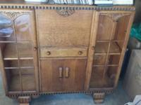 Antique oak secretary in excellent condition with three