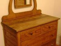 "Solid ""Hand Made"" Oak Antique Side by Side Gentleman's"