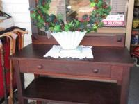 Antique Oak Sideboard Simple Craftsman-type Design