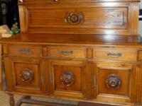 Massive turn of the century sideboard wwith backsplash,