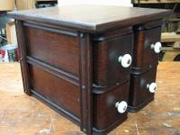 These are circa 1900 Oak Sewing Cabinet Drawers with