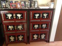 Antique oriental cabinets from South Korea . Perfect