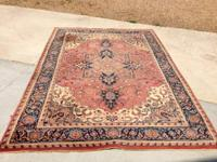 6x9 all wool antique oriental rug for sale $800.  Rug