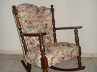 Selling Grandma's antique, carved wood rocking chair.