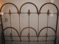 Ornate Antique Iron Bed  Complete with Headboard,