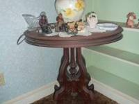 "WE HAVE AN OLD ANTIQUE "" OVAL "" TOP TABLE. TOP OVAL"