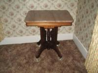 For sale is a Victorian Eastlake Parlor Table. It is in