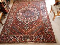 Antique Bakhtiar carpet from southwest Iran, circa