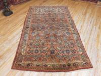 # 54932 4' 0 x 6' 7 pure wool hand knotted in Iran