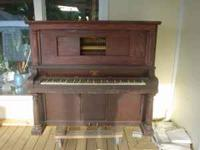 We found this antique piano in our Victorian home when