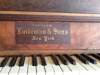 Lindeman and Sons piano.  Antique piano in great
