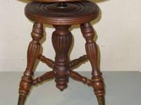 ANTIQUE PIANO STOOL This antique piano or organ stool