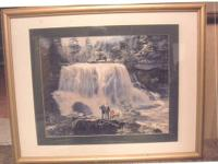 OLD ANTIQUE PICTURE OF BLACKWATER FALLS LOCATED AT