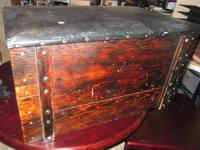 Antique Pine Trunk, Hope Chest, Or Storage $75.00