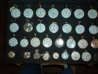 approx 30 watches in presentation case. some have been
