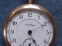 Rare pocket watch from W.J. Higgins, Shelby, Ohio