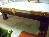 Antique Tournament pocket and billiard Table 9 foot