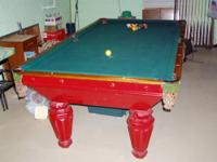 Antique Pool Table, over 100 years old. Solid slate