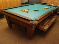 This pool table was Manufactured between 1915 & early
