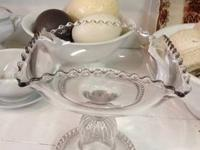 "Antique Pressed Glass Compote 8"" Tall $60 Country"