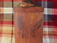 This is an extra nice antique primitive wood wrapped