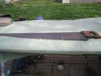 Antique primitive buck wood hand saw. 31 in. long. $75
