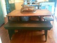 This is a wonderful mortised bench with demilune cut