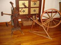 Hi, up for sale is an antique primitive spinning wheel