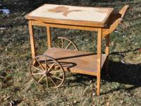 This old tea cart was a forgotten old server from a