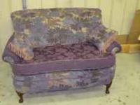 Looking to sell this purple settee off. It is a pretty