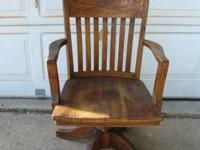original finish, antique, office/ desk arm chair by the