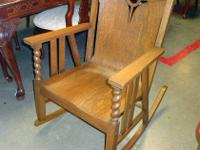 lovely arts and crafts rocker from around 1910, this is