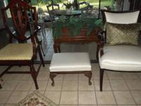 Antique Queen Anna Cream Stool that is in great