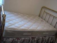 I am selling Antique Queen Brass Bed with Sealy