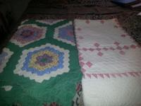 Very old and in very good condition 2 Quilts hand made