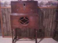 Antique radio console minus the radio player this was
