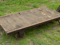Up for sale is this antique railway platform or packing