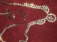 Antique Rhinestone Necklaces. No stones missing. $50