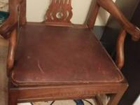 Old Peerless furniture chair manufactured in Rockford