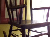 Antique kid's rocking chair. Early 1900s? Wood. Sturdy.