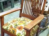 Antique rocking chair $100  call or text Location:
