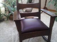 Antique rocking chair $150.00 Comfortable and sturdy