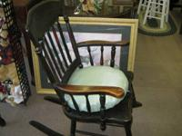 Quite old antique black rocking chair, great health