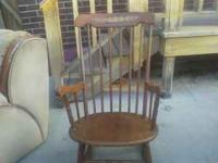 I have an antique rocking chair and school desk for
