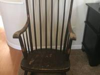 Antique ROCKING CHAIR Wooden Hand Crafted Rocker with