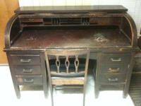 "Antique Rolltop ""C"" Desk for sale. It measures 60"""
