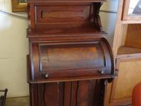 beautiful vintage rolltop desk dating to the 1800s -