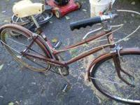 3 SPEED BIKE ANTIQUE ROLLFAST STARLITE NEEDS WORK BUT