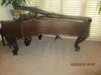 Antique Carved Victorian Weber Grand Piano. Splendid