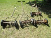 I have 4 antique push mowers that work or can be used